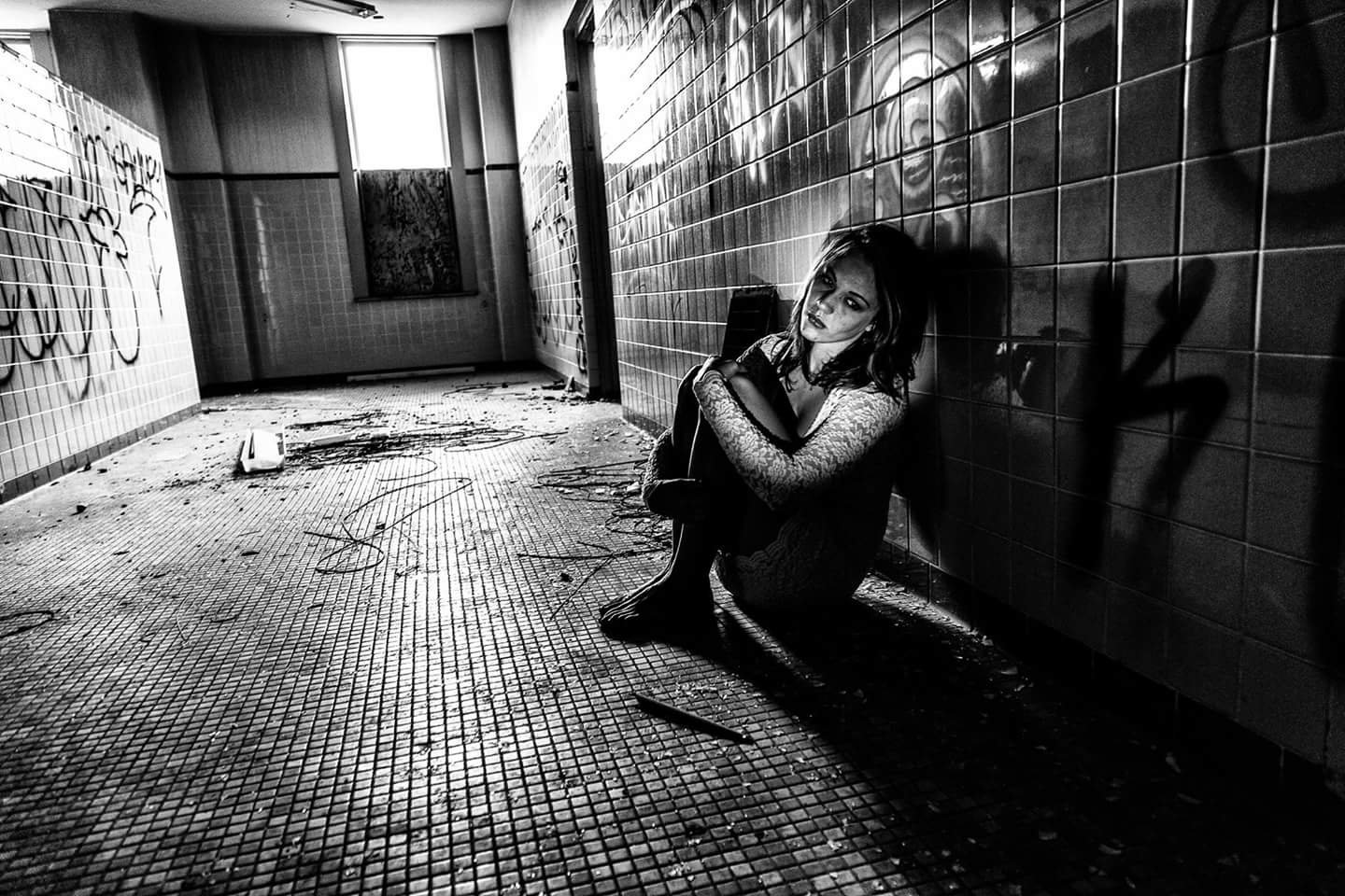 Part of a series of images *Jessica created with photographer John Trew to portray the emotions associated with addiction. (Courtesy of John Trew)